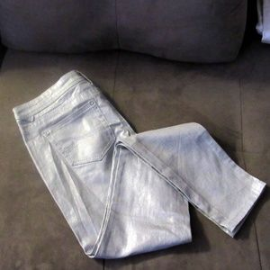Almost Famous Silver Sparkle Shimmer Jeans Size 7